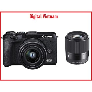 MÁY ẢNH CANON EOS M6 MARK II KIT 15-45MM + SIGMA AF 30MM F1.4 DC DN FOR CANON EF-M