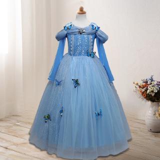 Đầm hóa trang nữ hoàng băng giá phim Frozen hóa trang công chúa băng giá