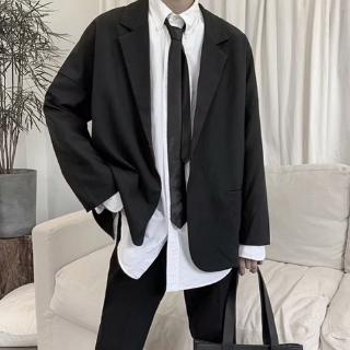 Hong Kong style retro casual small suit men's jacket Korean version of the tide brand men's suits lazy wind loose