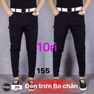quần jean đen trơn