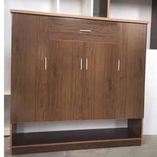 Tủ giày nhựa đài Loan vân gỗ big size tiện lợi