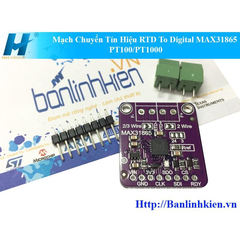 Mạch Chuyển Tín Hiệu RTD To Digital MAX31865 PT100/PT1000