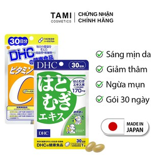 Combo SÁNG DA - GIẢM THÂM DHC Nhật Bản viên uống trắng da DHC và viên uống vitamin C DHC 30 ngày TM-DHC-CB1 thumbnail