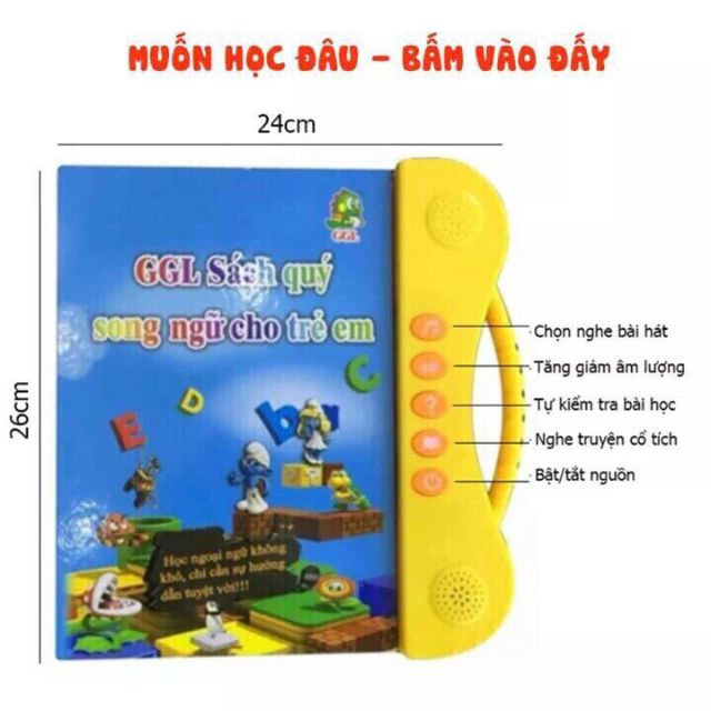 [Nhập mã APTOYFAIR giảm 20K khi thanh toán qua Airpay]Sách song ngữ thông minh cho bé hàng loại 1