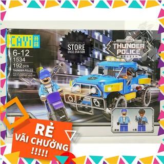 [Hàng Có Sẵn] Lego CAYI-1534 Lắp Ráp Xe Jeep Cảnh Sát – Thunder Police ( 192 Mảnh )