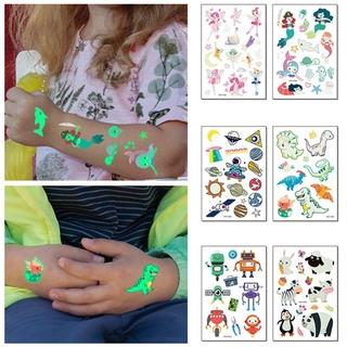 Nhãn dán dạ quang bám tạm thời chống nước họa tiết hoạt hình xinh xắn dành cho bé thumbnail