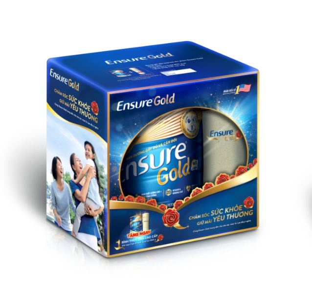 Sữa bột Ensure Gold Trà xanh 850g tặng Bình thủy tinh