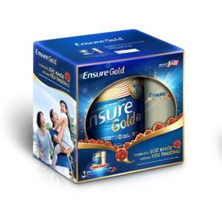 Hình ảnh Sữa bột Ensure Gold Trà xanh 850g tặng Bình thủy tinh-1