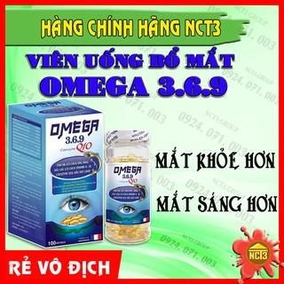 DẦU CÁ OMEGA 3.6.9 Bổ não Sáng mắt, Khỏe Tim Mạch (100 viên) ( Hàng chính hãng công ty NCT3 )