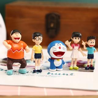 [FREESHIP] Bộ mô hình Doraemon 5 nhân vật hoạt hình