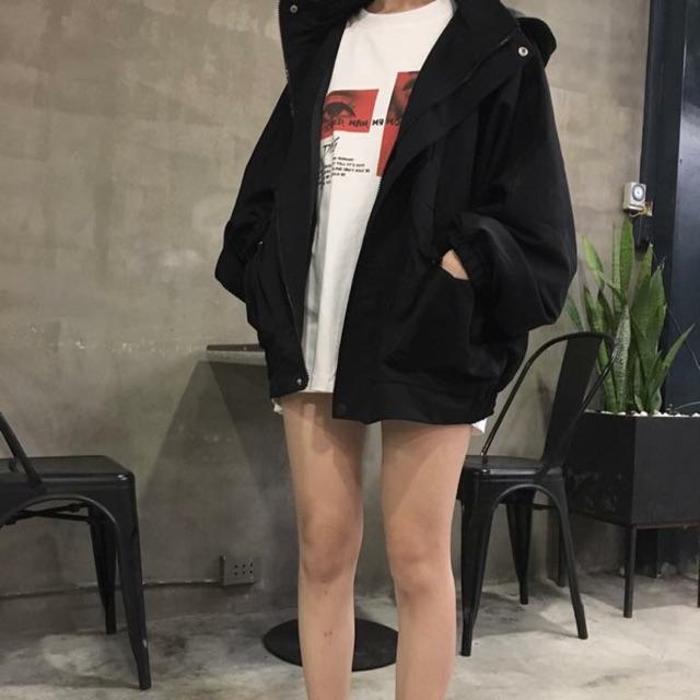 Áo Jacket Over Kaki
