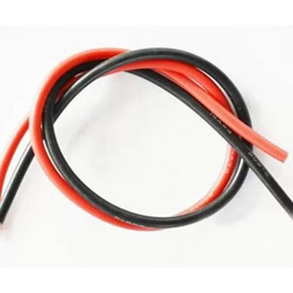 High Quality 2M AWG Soft Silicone Flexible Wire Cable 12-20 (1 Meter Red + 1 Black)