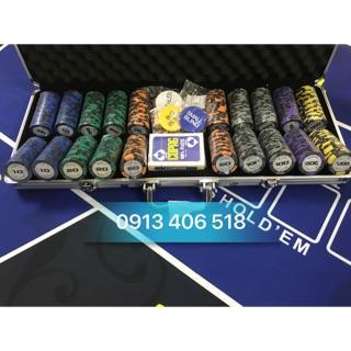 Phỉnh poker goodeasy poker club 500 chip hàng cao cấp full như hình