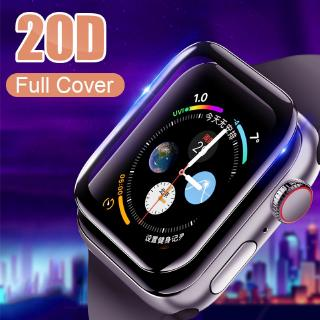 20D Curved Full Cover Tempered GlassScreen Protector iwatch 38 40 42 44 mm For Apple Watch 1/2/3/4