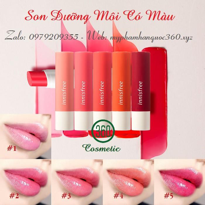Son Dưỡng Môi Có Màu – Innnisfree Glow Tint Lip Balm 3.5g