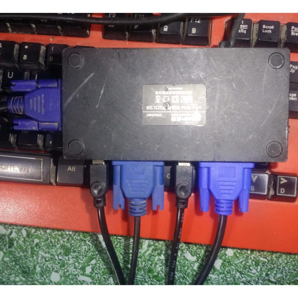 Bộ gộp VGA 2 máy tính xuất một màn hình