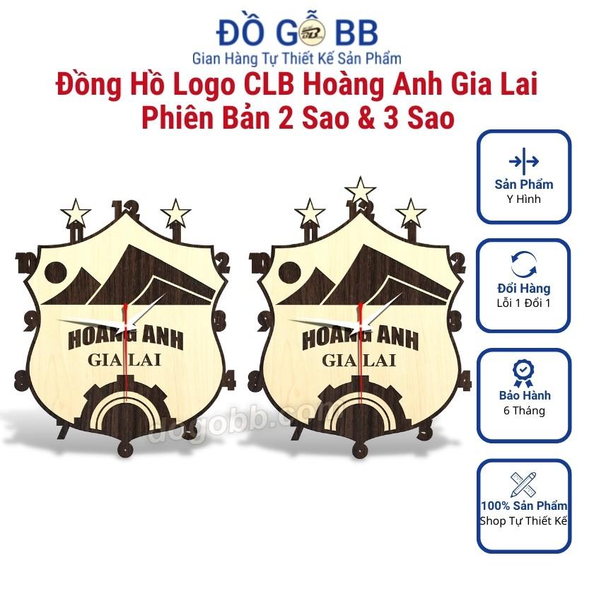 Đồng Hồ Bóng Đá Logo Clb Hoàng Anh Gia Lai (HAGL) Bằng Gỗ Siêu Đẹp - Đồ Gỗ BB