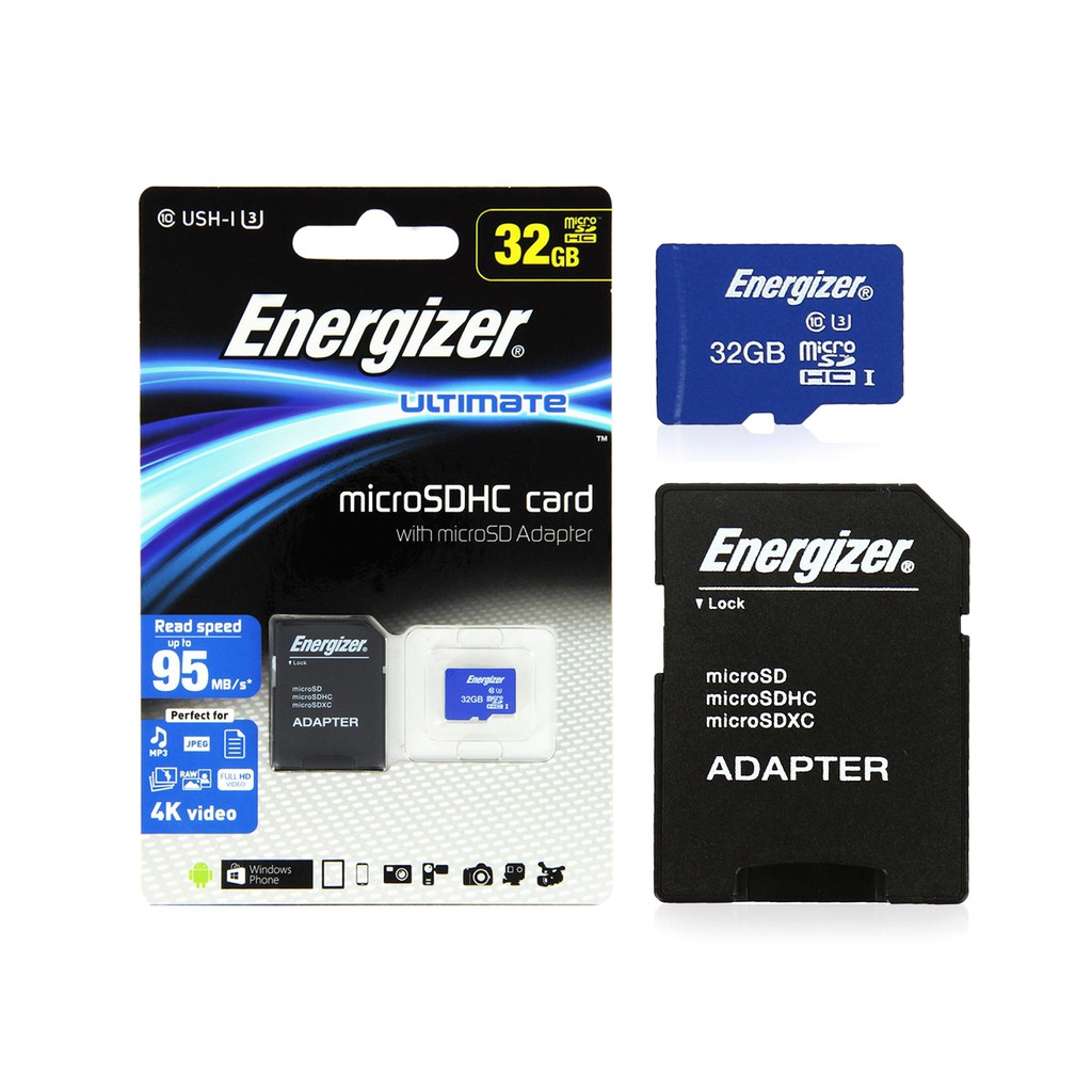 Thẻ nhớ Energizer UL Micro SDHC Card 32GB - FMDAAU032A (Card + Adapter)