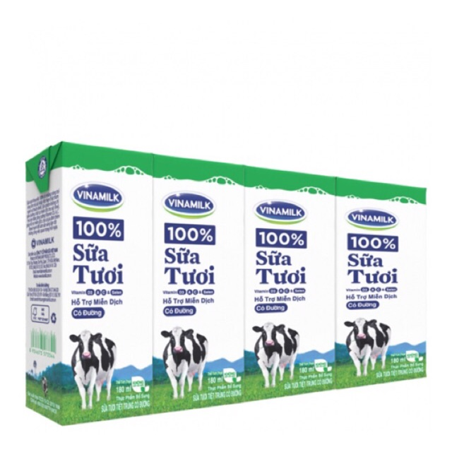 Sữa tươi Vinamilk 100% có đường 180ml * 24 hộp