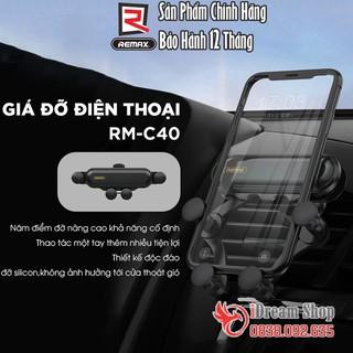 Giá đỡ để kẹp điện thoại trên xe hơi ô tô Remax treo gắn cửa gió điều hòa gấp gọn cao cấp chính hãng