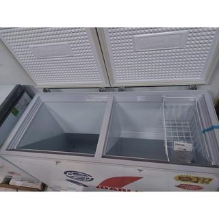 tủ đông darling 2 ngăn dàn lạnh ống đồng xả hàng 370 lít