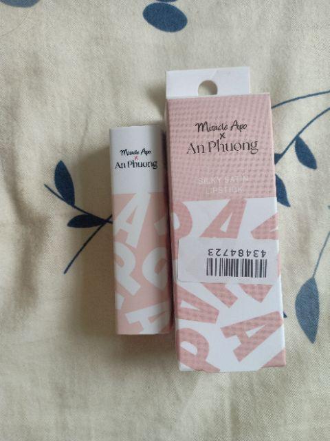 Đánh giá sản phẩm Son thỏi Miracle Apo x An Phương Holiday Collection Lipstick 4g của hnpa178295