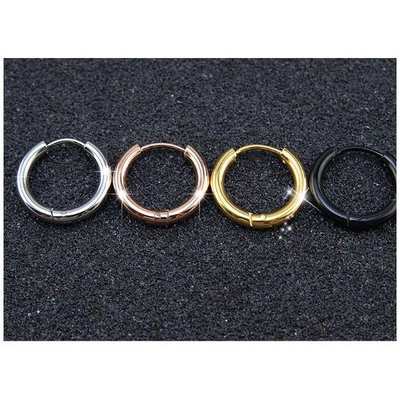 Bông tai nam inox Khoen tròn - shop ánh sao BKT-29045