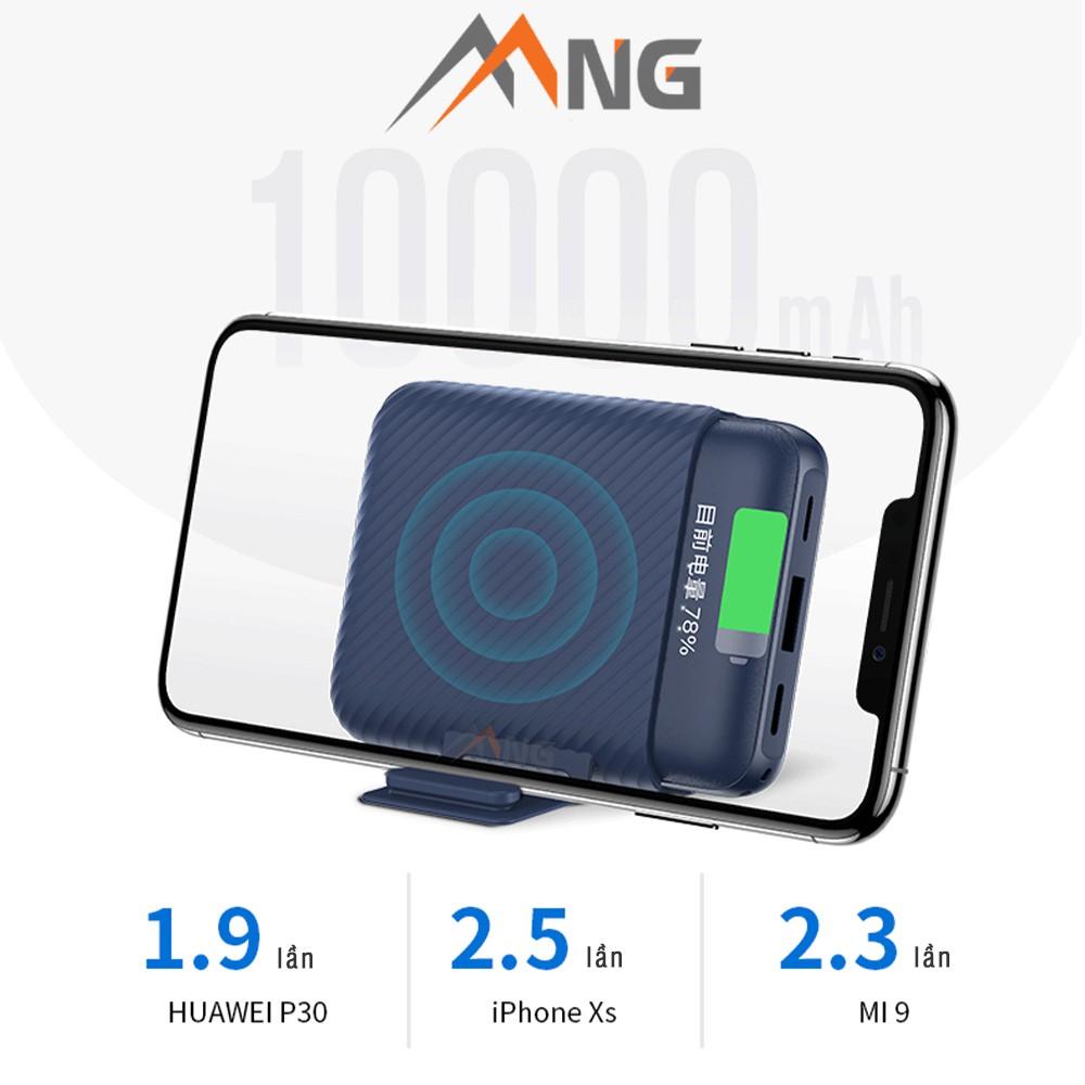 Pin sạc dự phòng không dây Rockspace P51 wireless 10.000 mAh sạc nhanh iphone, samsung chính hãng bảo hành 12 tháng