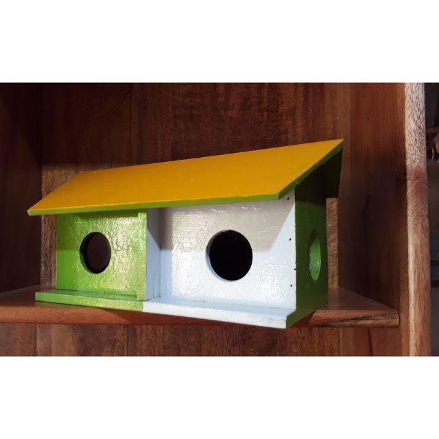 Tổ chim gỗ nhỏ là ổ đẻ chim yến phụng manh manh bạt má cùng loài chim nhỏ trang trí lồng avi