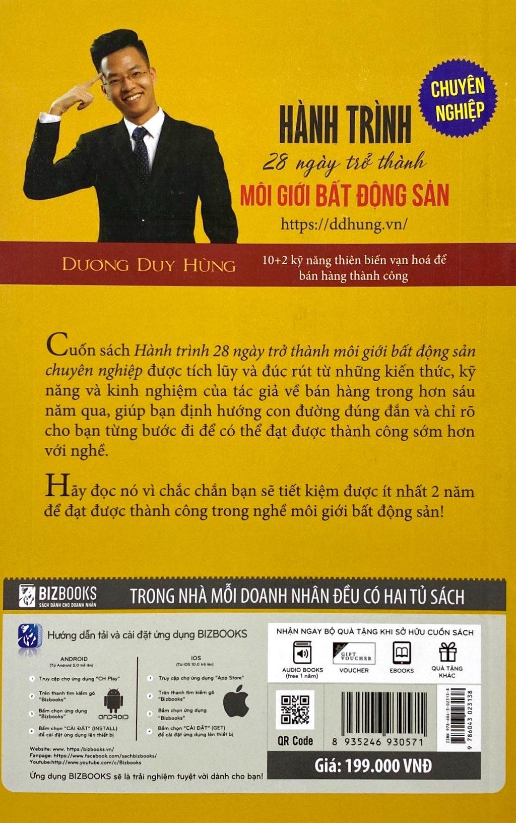 Sách Hành Trình 28 Ngày Trở Thành Môi Giới Bất Động Sản Chuyên Nghiệp
