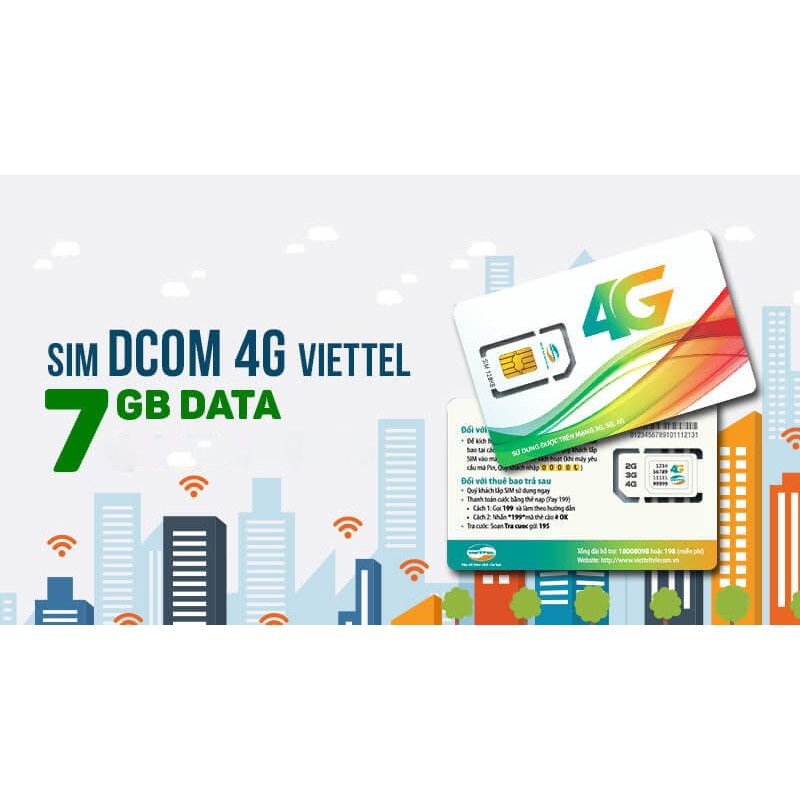 Sim 4G Viettel D900 7Gb/tháng miễn phí 1 năm