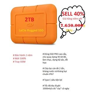 SELL 50% giá hãng Ổ Cứng Di Động 2TB SSD Lacie Rugged STHR2000800 - CHÍNH HÃNG - 2 NĂM BẢO HÀNH thumbnail
