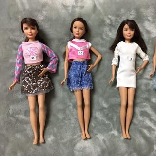 Búp bê chị em Barbi – Skipper Mĩ có quần áo Used