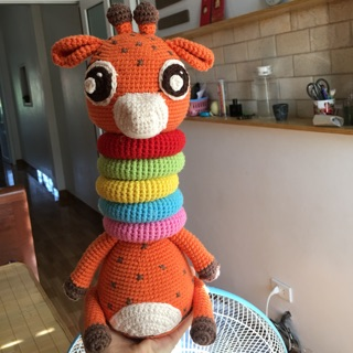 Hươu cao cổ len móc tay handmade!