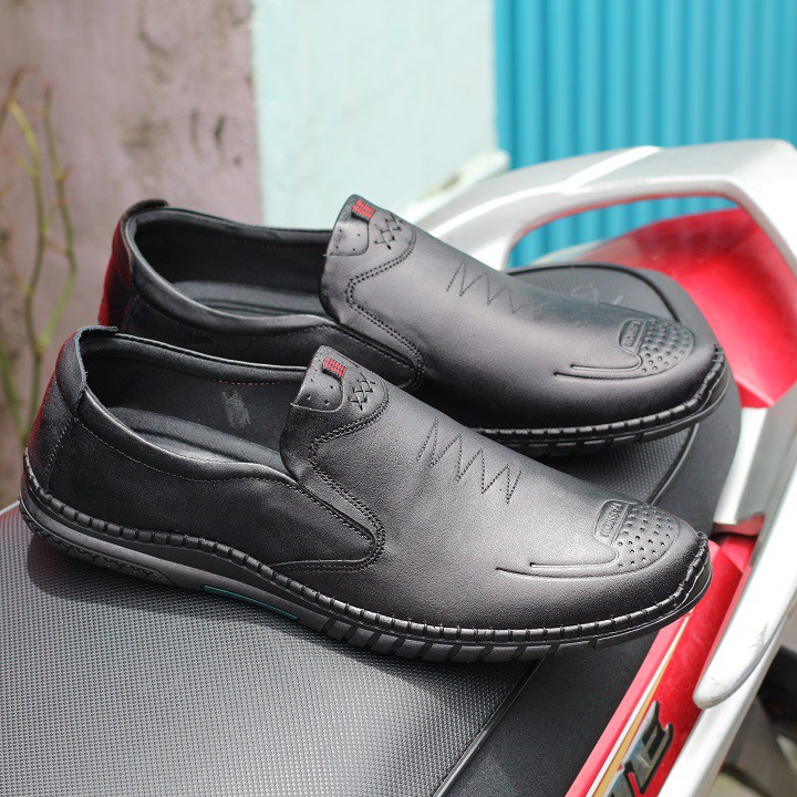 [Sale chỉ 3 ngày] Giày lười nam da bò cao cấp bảo hành 12 tháng