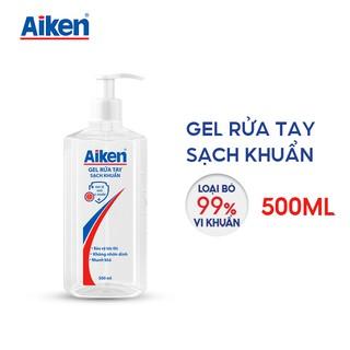 [Mã AIKE20149 giảm 20K đơn 149K] Aiken Gel rửa tay Sạch khuẩn 500ml Dạng vòi thumbnail