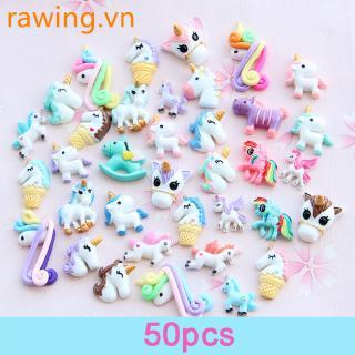 50pcs/set Cute Slime Set DIY Resin Accessories Slime Filler Toys for Kids