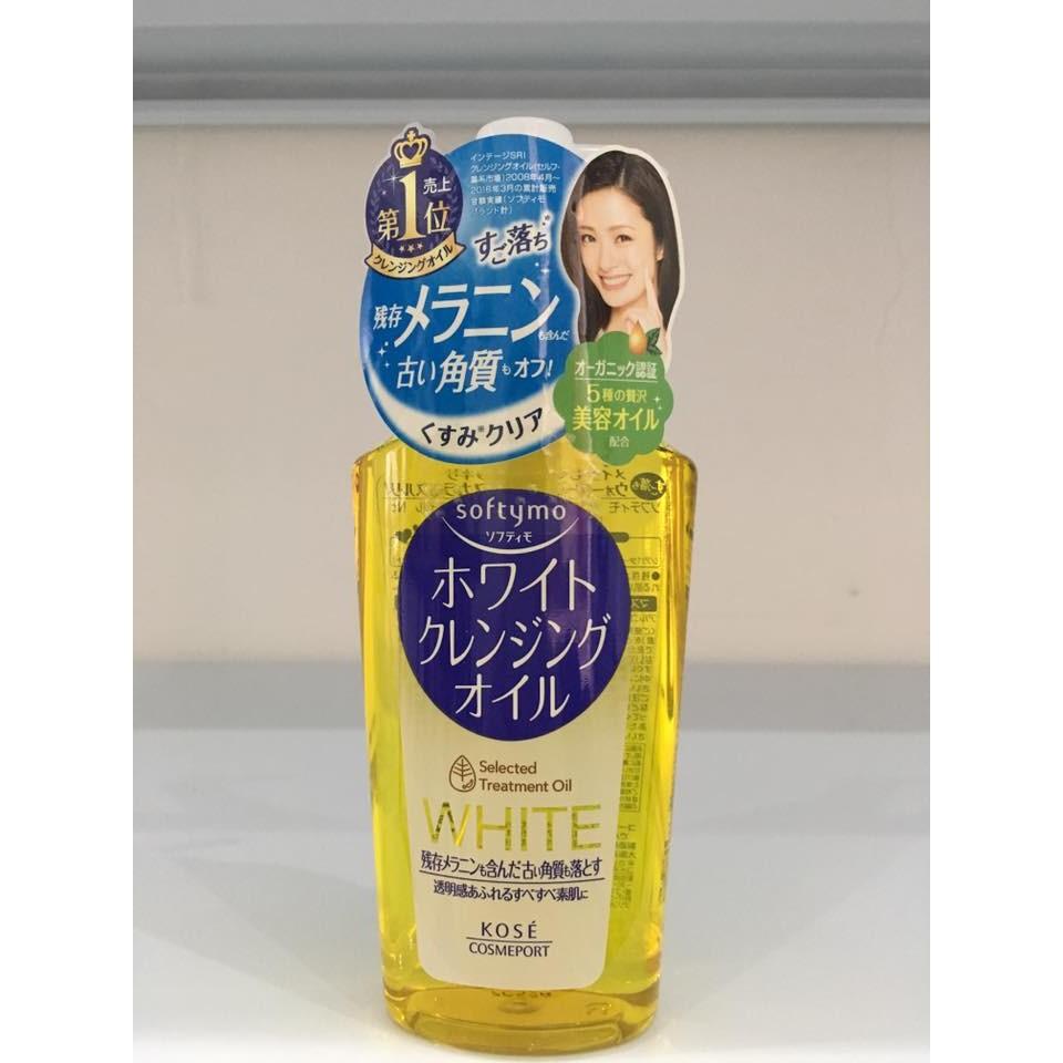 Dầu tẩy trang Kose Softymo White Cleansing Oil 230ml, chai màu vàng White (Bill mua tại siêu thị Nhậ - 2393654 , 297053610 , 322_297053610 , 200000 , Dau-tay-trang-Kose-Softymo-White-Cleansing-Oil-230ml-chai-mau-vang-White-Bill-mua-tai-sieu-thi-Nha-322_297053610 , shopee.vn , Dầu tẩy trang Kose Softymo White Cleansing Oil 230ml, chai màu vàng White (B