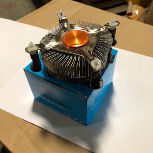 Fan Tản nhiệt CPU 755/1155 Đồng - hộp xanh