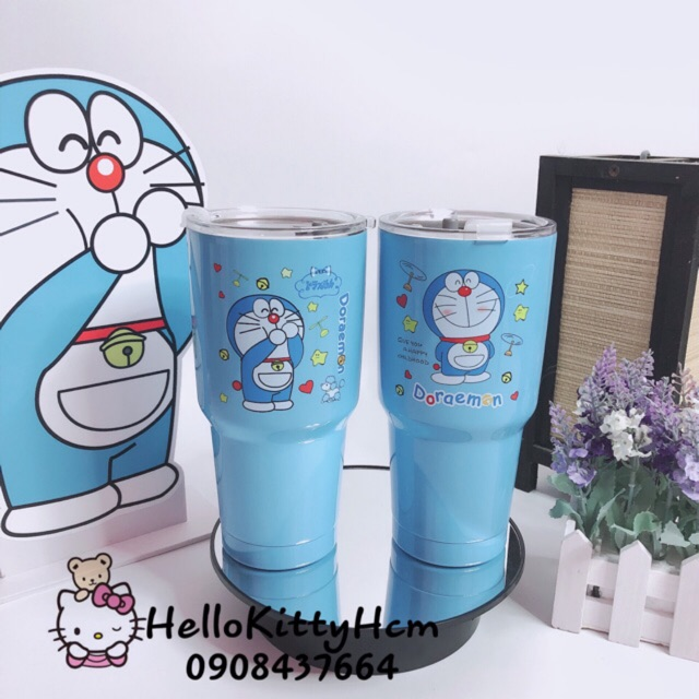 Ly giữ nhiệt 900ml Doremon