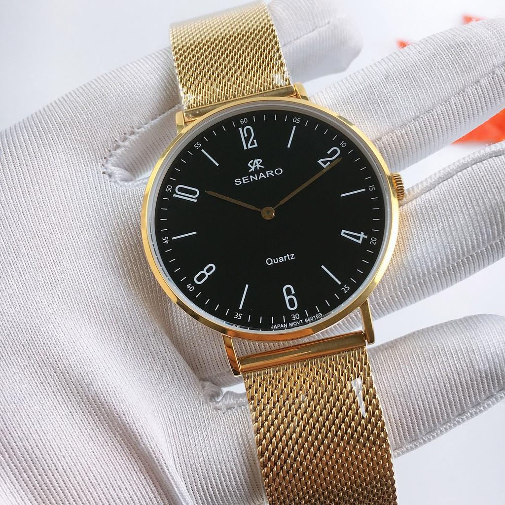 [Mã FARSBRT52 giảm 20% đơn từ 249K] Đồng hồ nam SENARO Every Time Large 66016GBG thương hiêu Nhật Bản - LAMY WATCH