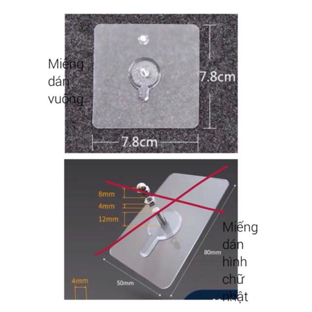 Miếng dán chuyên dụng cho thanh chắn giường (KT 7,8cmx7,8cm)