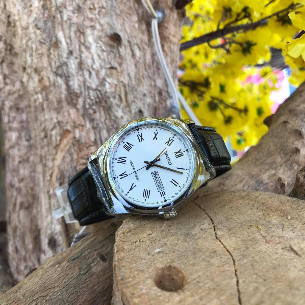 Đồng hồ nam dây da CASIO STANDARD MTP-V006L-7BUDF chính hãng Anh Khuê