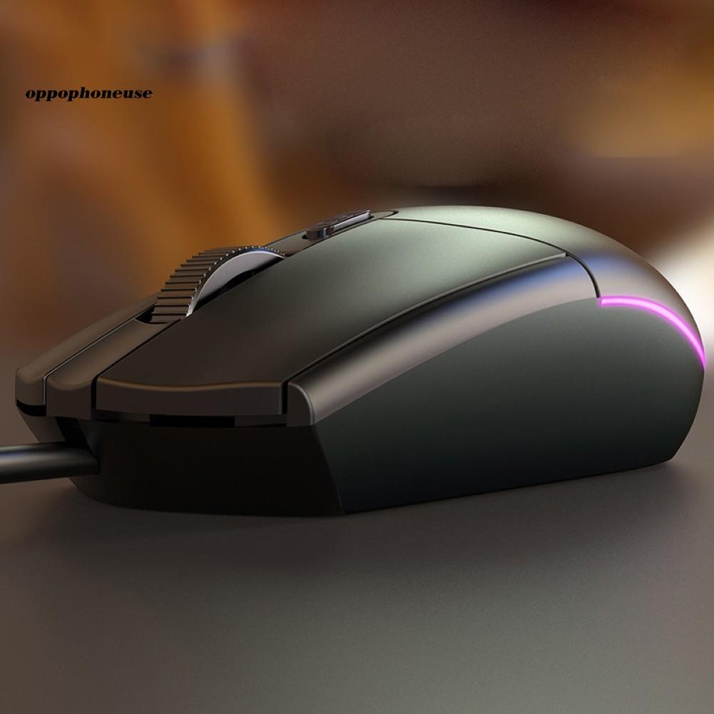 Chuột chơi game có đèn LED có thể điều chỉnh DPI USB không ồn cho laptop