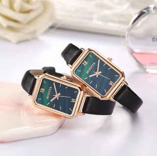 INS Style Female Watch Retro Forest Malachite Green Square Plate Belt Student Green Watch Gift thumbnail