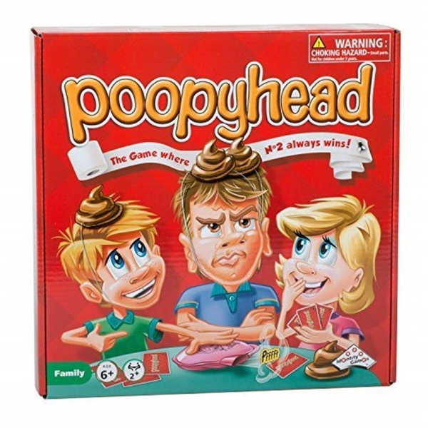 Poopyhead Playing Cards Puzzle Board Game Prank Toy for Family Party Friends