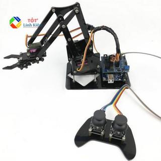 Bộ Cánh Tay Robot 4 Bậc Arm 4DoF – Điều Khiển Qua Tay PS Joystick