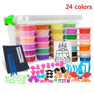 MD Slime Crystal Toys 24 Colors Light Clay Soft Model DIY Kid Gift Snow Polymer
