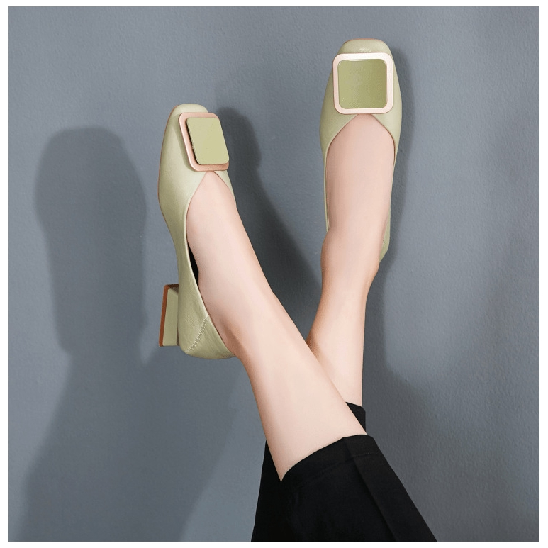 Giày Búp Bê Mũi Vuông Thời Trang Nữ