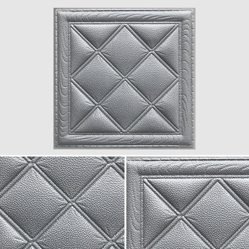 Miếng dán tường trang trí 3D bằng mút PE chống nước 30*30*0.8cm